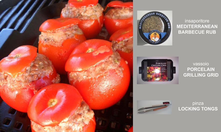 Pomodorini ripieni con carne / riso