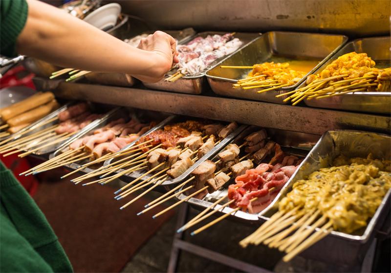Il menù in griglia – Lo street food americano