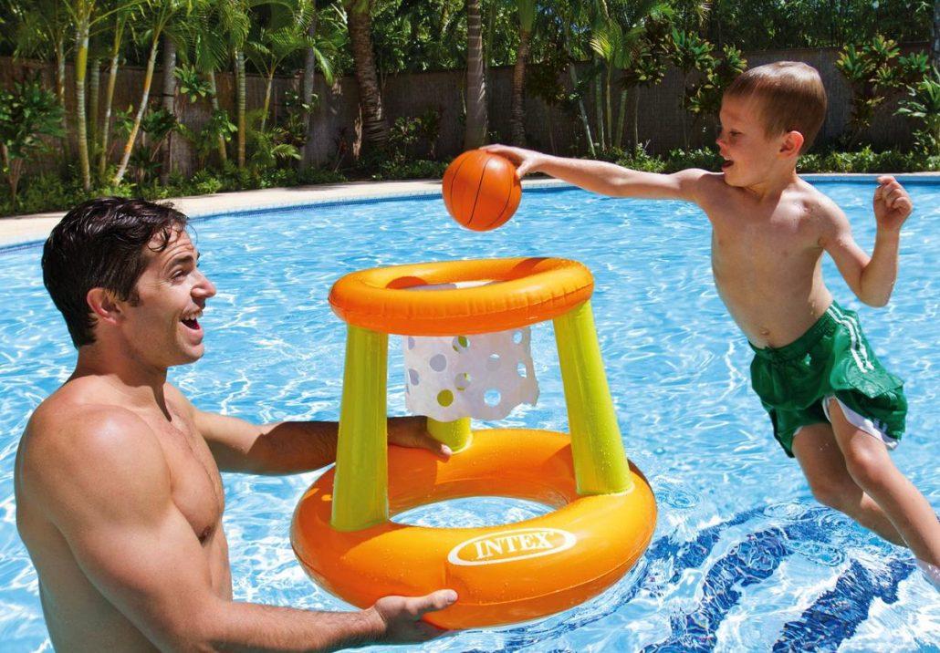 Canestro galleggiante gonfiabile intex per piscina