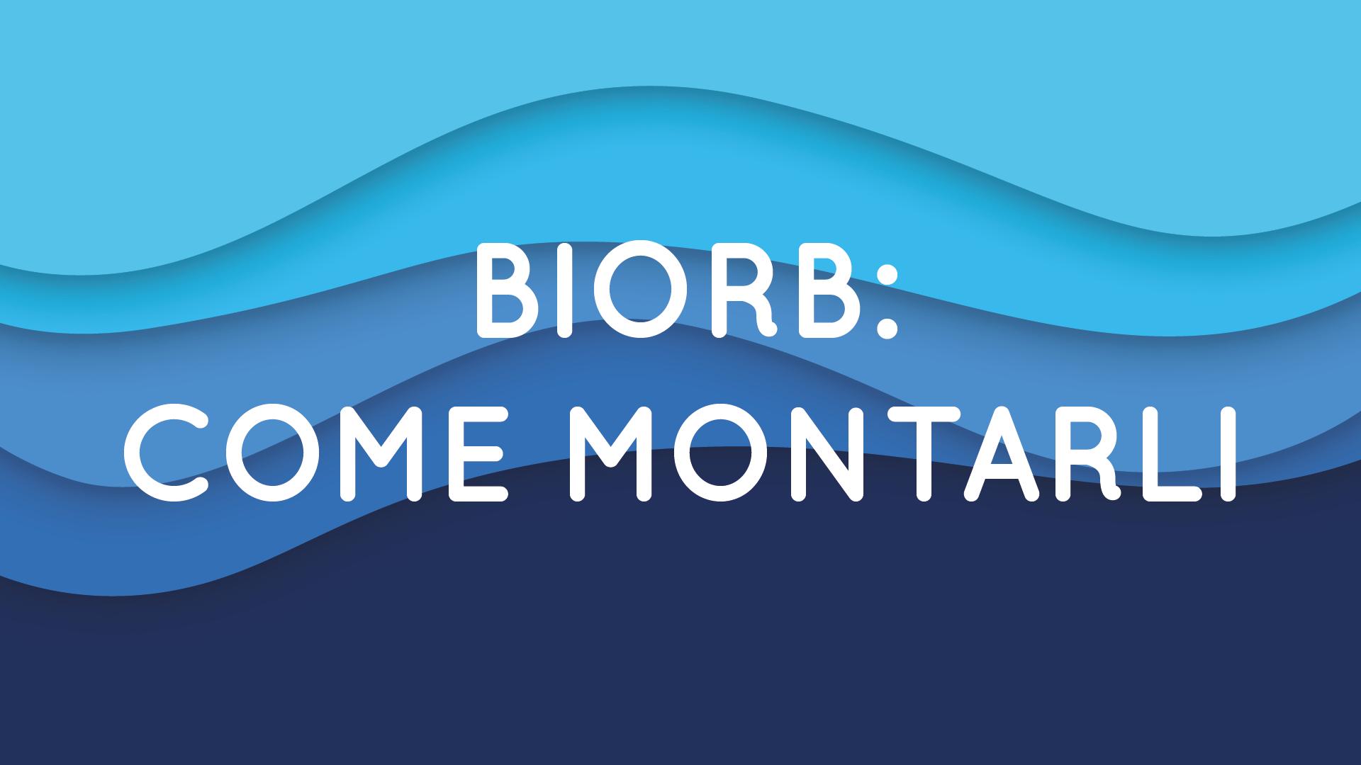 Montare gli acquari BIORB